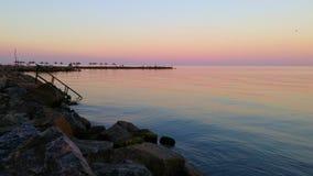 cicho, morze Zdjęcie Stock