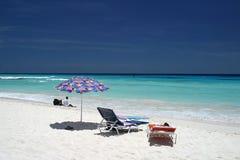 cicho plażowa Zdjęcie Stock