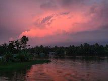 cicho, zachód słońca Obraz Royalty Free