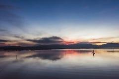Cichy jezioro w ranku Obraz Stock