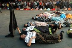 CICHY PROTEST Zdjęcia Royalty Free
