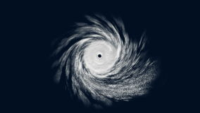 Ciclón tropical con el mate alfa, animación del CG metrajes