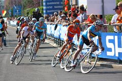 Ciclagem - campeonatos 2009 do mundo da estrada de UCI Fotos de Stock Royalty Free