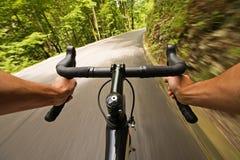 Ciclagem na estrada na natureza Imagem de Stock Royalty Free