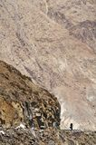 Ciclagem nos Himalayas Fotografia de Stock