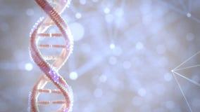 Ciclaggio della piattaforma girevole del materiale genetico 360 del DNA royalty illustrazione gratis