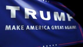Ciclaggio senza cuciture del fondo della bandiera di Trump con la metallina di Luma illustrazione vettoriale