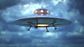 Ciclaggio senza cuciture dell'oggetto volante non identificato antico video d archivio
