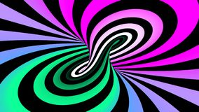 Ciclaggio senza cuciture di illusione a spirale ipnotica illustrazione di stock