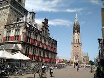 Ciclando a Delft, i Paesi Bassi fotografia stock libera da diritti