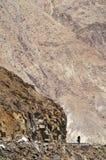 Ciclando in Himalaya Fotografia Stock
