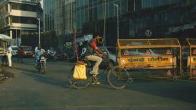 Ciclando in India Fotografia Stock
