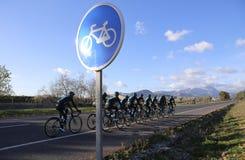 Ciclando in Mallorca Fotografia Stock Libera da Diritti