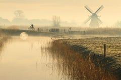 Ciclando in Olanda Immagine Stock Libera da Diritti