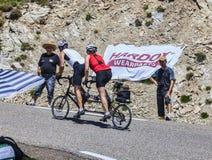 Ciclando in Pirenei Immagine Stock