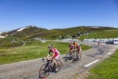 Ciclando in Pirenei Immagini Stock Libere da Diritti