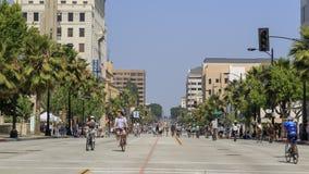CicLAvia Pasadena, samochód uwalnia dzień Zdjęcie Royalty Free