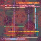 Circle draw abstract seamless pattern Stock Image