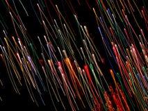 Cicli del neon di volo Fotografia Stock Libera da Diritti