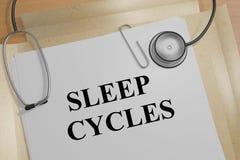 Cicli di sonno - concetto medico Immagine Stock