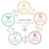 Cicli Infographic cinque posizioni Fotografia Stock Libera da Diritti