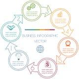 Cicli Infographic sei posizioni Fotografia Stock Libera da Diritti