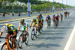 Cicli la corsa, l'attività di sport dell'Asia, cavaliere vietnamita Immagine Stock Libera da Diritti