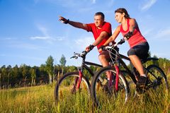 Ciclismo Fotografía de archivo libre de regalías