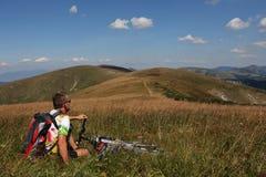 Ciclismo Fotografia Stock Libera da Diritti