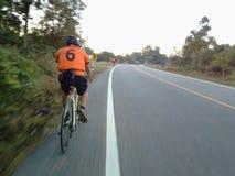 Ciclismo da velocidade Fotografia de Stock Royalty Free