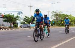 Ciclismo di montagna tre Immagini Stock
