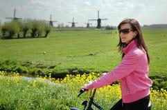 Ciclismo do turista imagens de stock royalty free