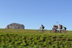 Ciclismo Drakensberg Imagens de Stock Royalty Free