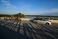 Ciclismo en ruta 2016 del ciclo de Singapur OCBC imagen de archivo libre de regalías