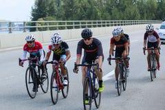Ciclismo en ruta 2016 del ciclo de Singapur OCBC Imágenes de archivo libres de regalías