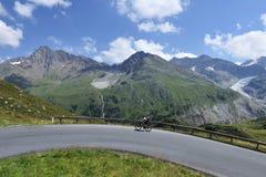 Ciclismo in Kaunertal Fotografia Stock