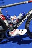 Ciclismo saudável do exercício do esporte do Triathlon imagens de stock royalty free