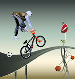 Ciclista Fotografia Stock