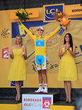 Ciclista Alberto Contador fotografie stock libere da diritti