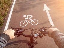Ciclista all'inizio Attività esterne immagine stock libera da diritti