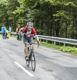 Ciclista amador feliz imagens de stock