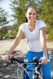 Ciclista bonito Imagem de Stock Royalty Free