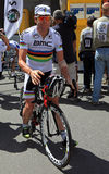 Ciclista Cadel Evans Imagenes de archivo