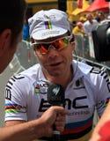 Ciclista Cadel Evans Fotos de archivo libres de regalías