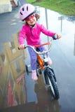Ciclista da menina Fotos de Stock Royalty Free