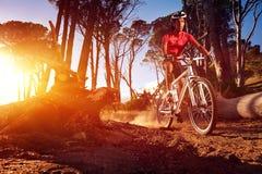 Atleta de la bici de montaña Fotos de archivo libres de regalías