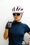 Ciclista de la mujer Imagenes de archivo