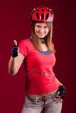 Ciclista de la mujer joven Fotografía de archivo libre de regalías