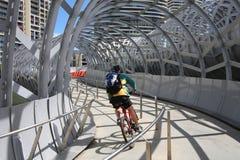 Ciclista de Melbourne Imagen de archivo libre de regalías