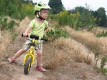 Ciclista del bambino Fotografia Stock Libera da Diritti